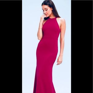LULU'S 🌹GORGEOUS Maxi GOWN!🌹Sexy and Sleek NWT
